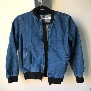 American Apparel Jean Bomber Jacket